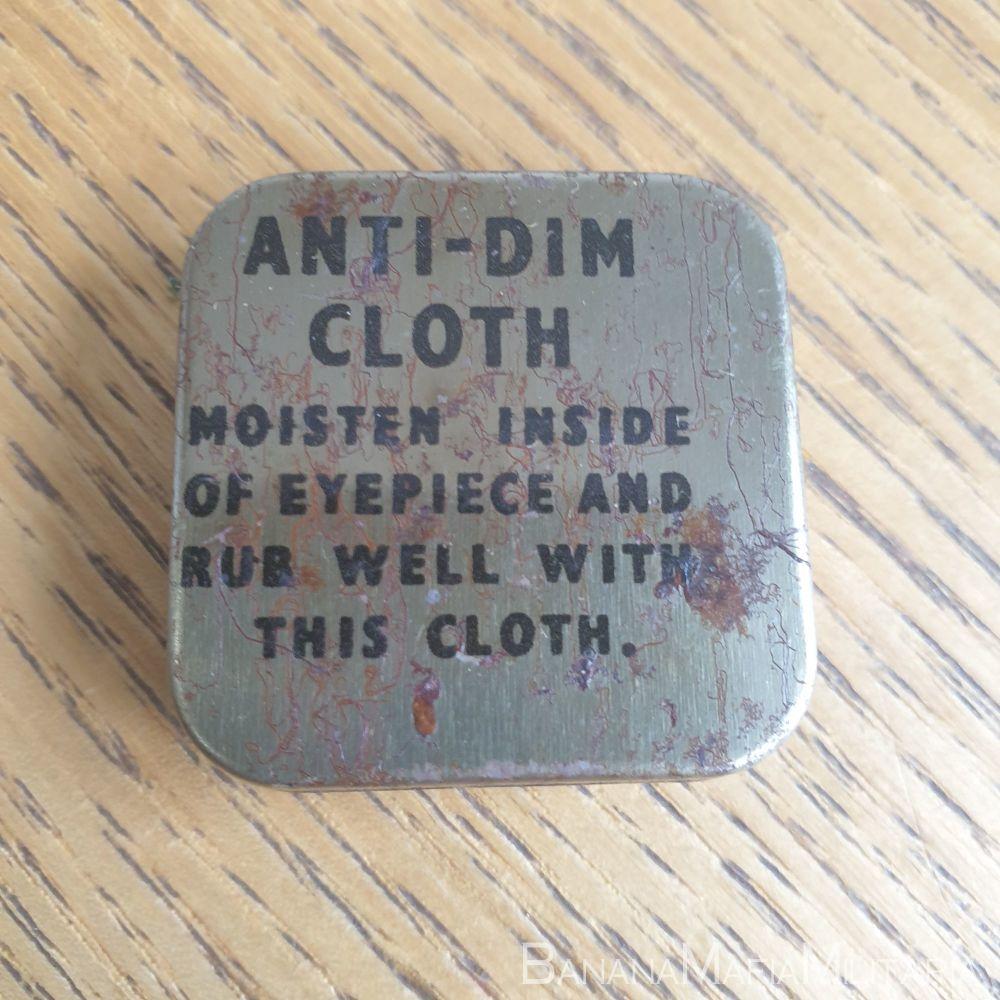 WW2 Respirator Anti-Dimming Cloth tin