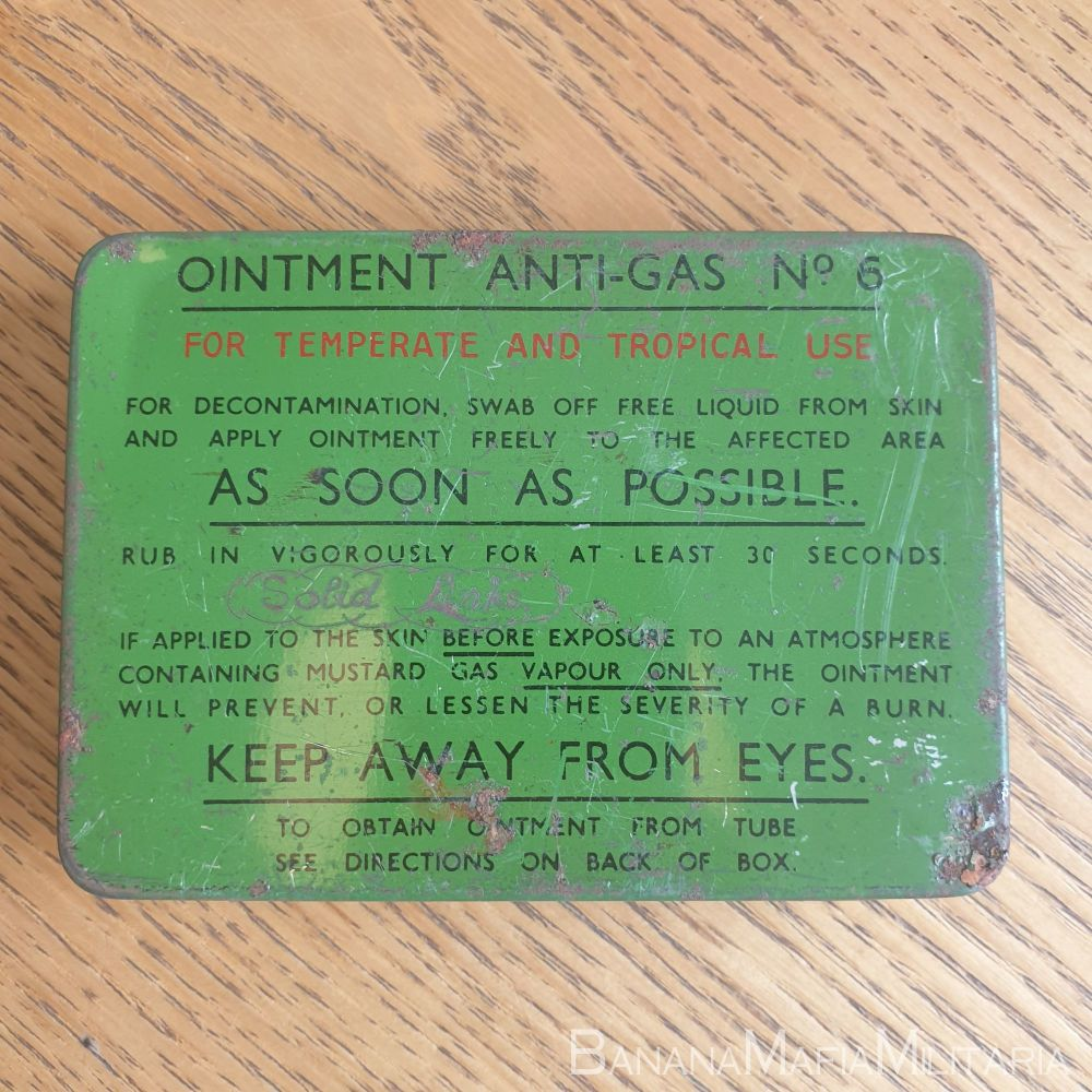 Ointment Anti-Gas Tin No6 1952 dated Temperate & tropical
