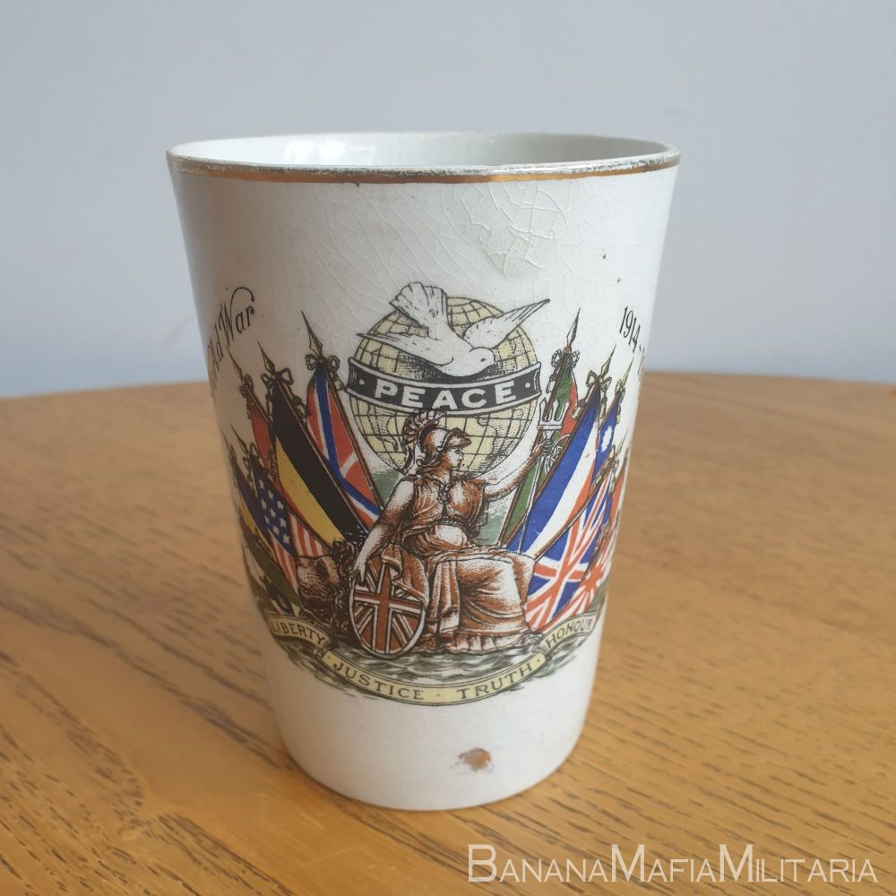WW1 british Peace Cup - Eastleigh & District ind. Co-op society 1919