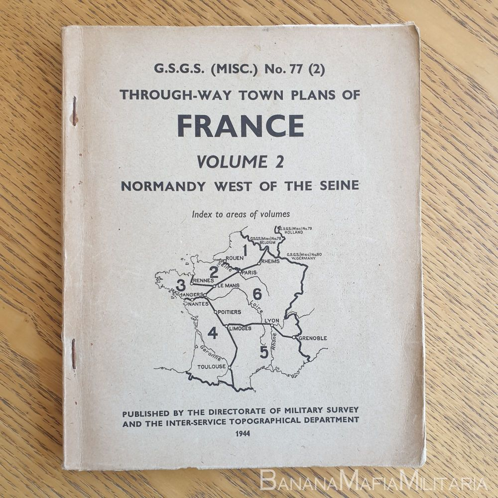 WW2 British - G.S.G.S. Through-Way town plans of France No77 (2) 1944 NORMA
