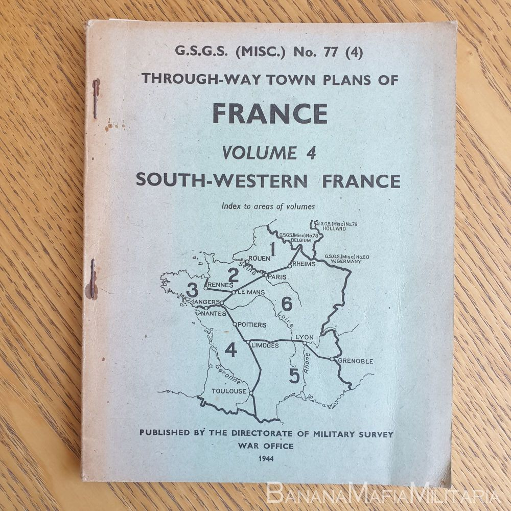 WW2 British - G.S.G.S. Through-Way town plans of France No77 (4) 1944 South Western