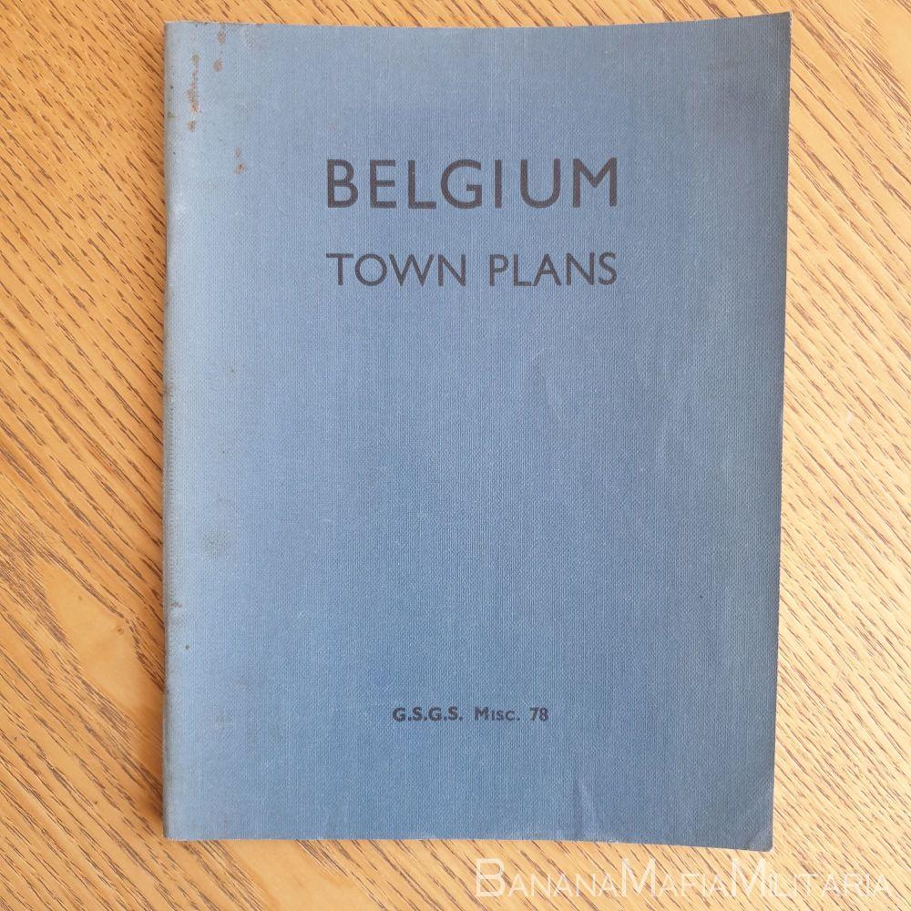 WW2 British - G.S.G.S. Through-Way town plans of BELGIUM No78 1944