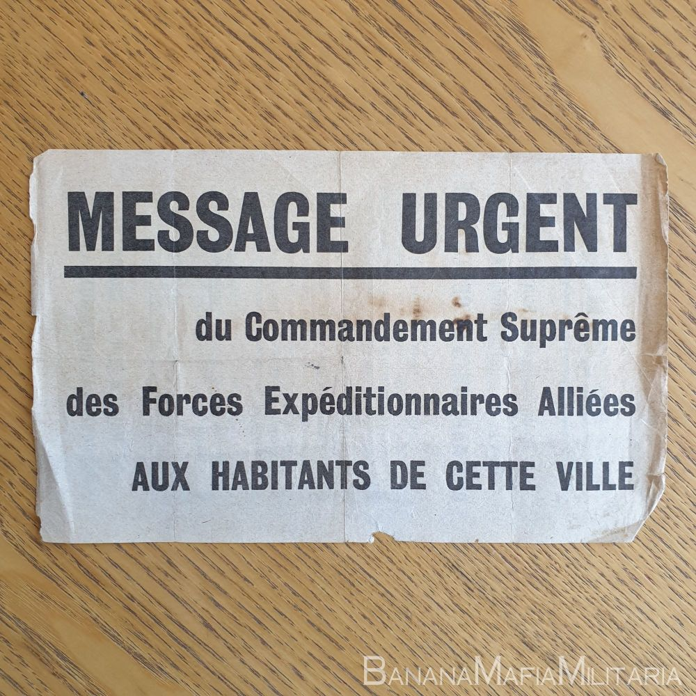 WW2 British leaflet dropped on Normandy France during  and after D-Day - RARE