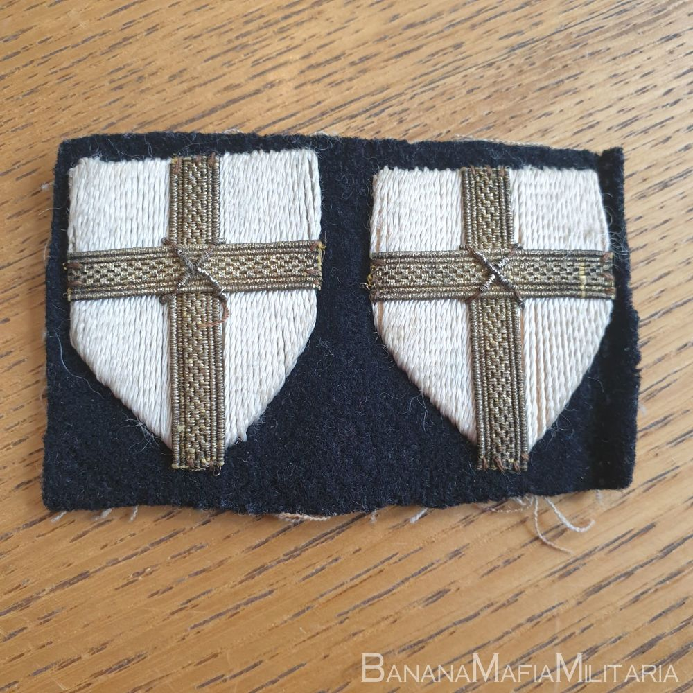 8th ARMY FORMATION SIGN BADGE - PAIR bullion wire - Original
