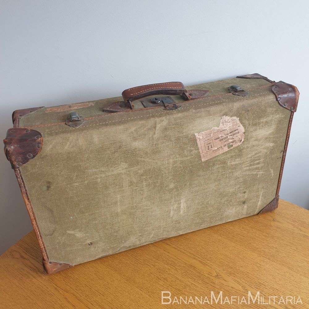 "Original 1944 dated British Army ww2 Demobilisation ""DEMOB"" suitcase"