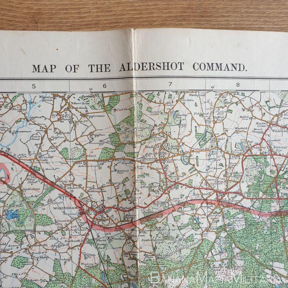 Inter-War British map of Aldershot Command