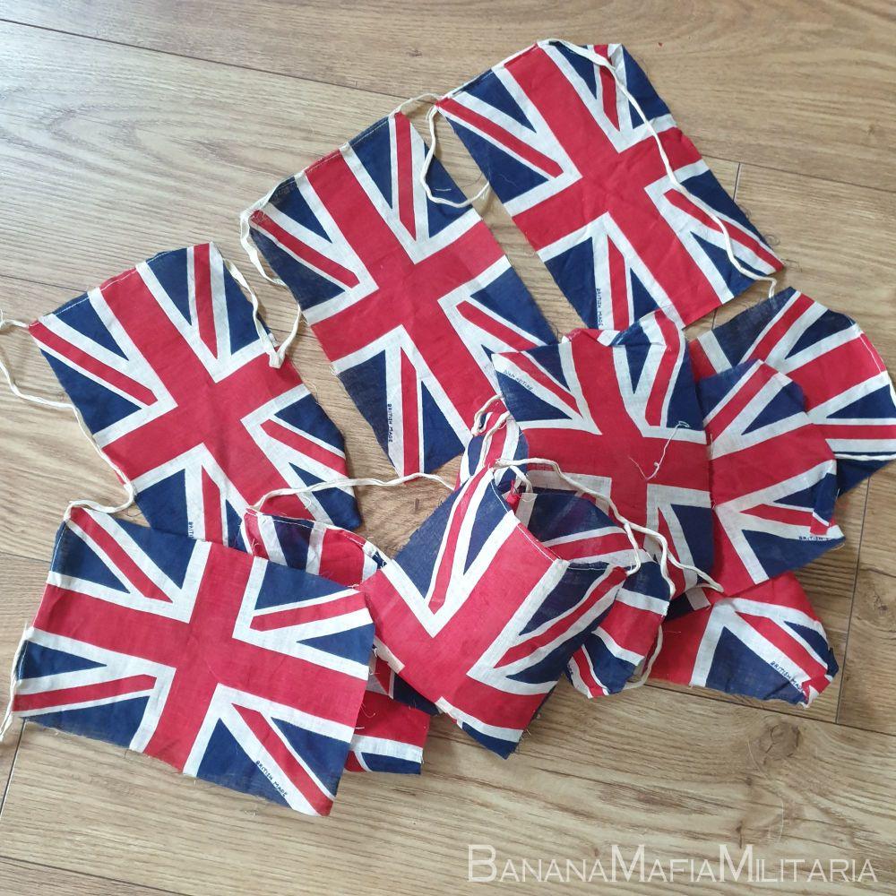 Original WW2 VE day flag  Bunting - union Jack flags, british made