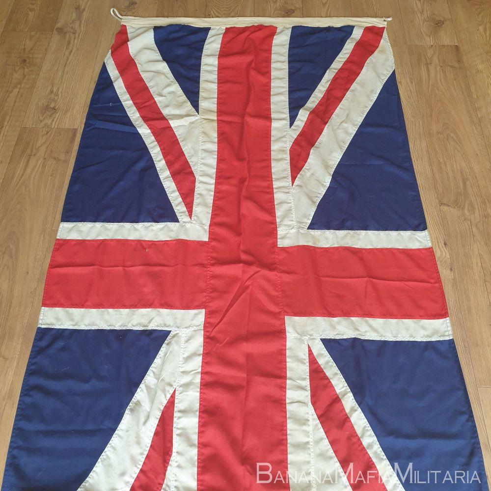 Vintage large panel constructed British Union Jack flag - 110cm x 225cm