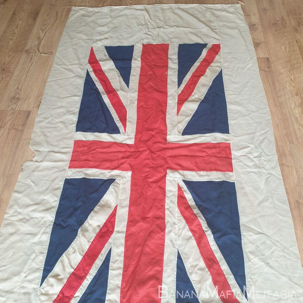 "Beautiful WW1 Era Union Jack Flag - panel constructed  Navy ""PILOT JACK"""