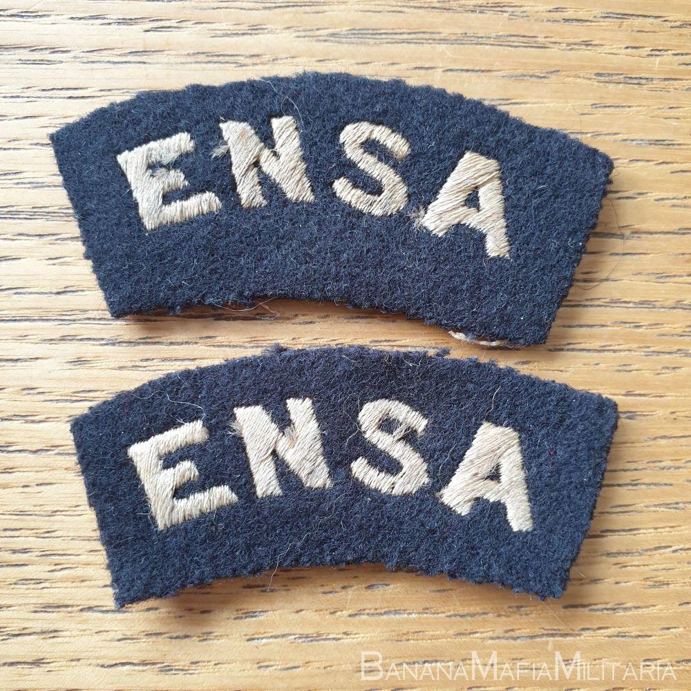 WW2 British Entertainments National Service Association (ENSA) Shoulder tit