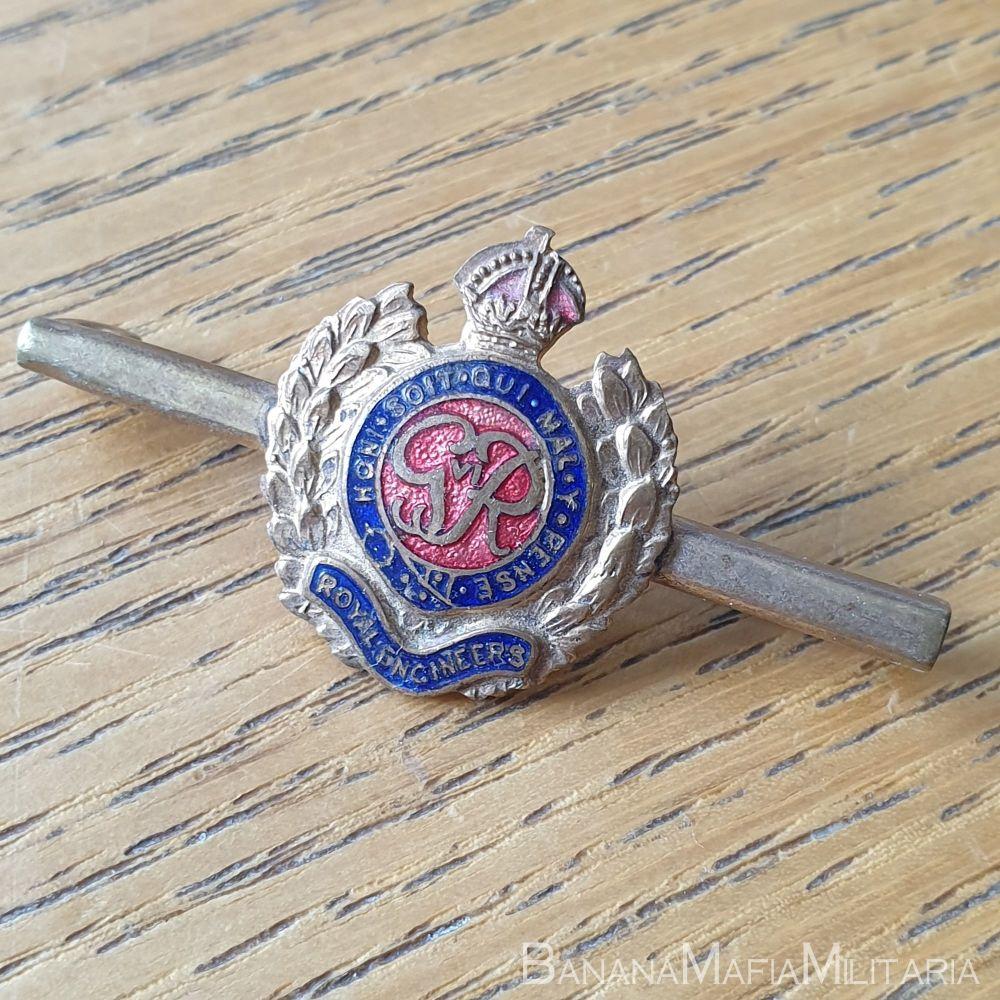 WW2 Royal Engineers enamel sweetheart brooch pin badge
