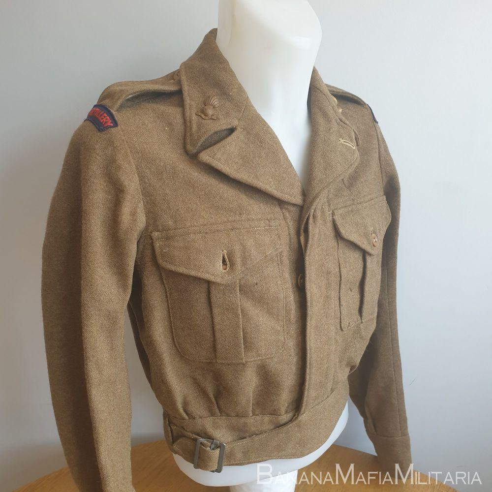 British Army Royal Artillery badged 1947 pattern Battledress uniform blouse.