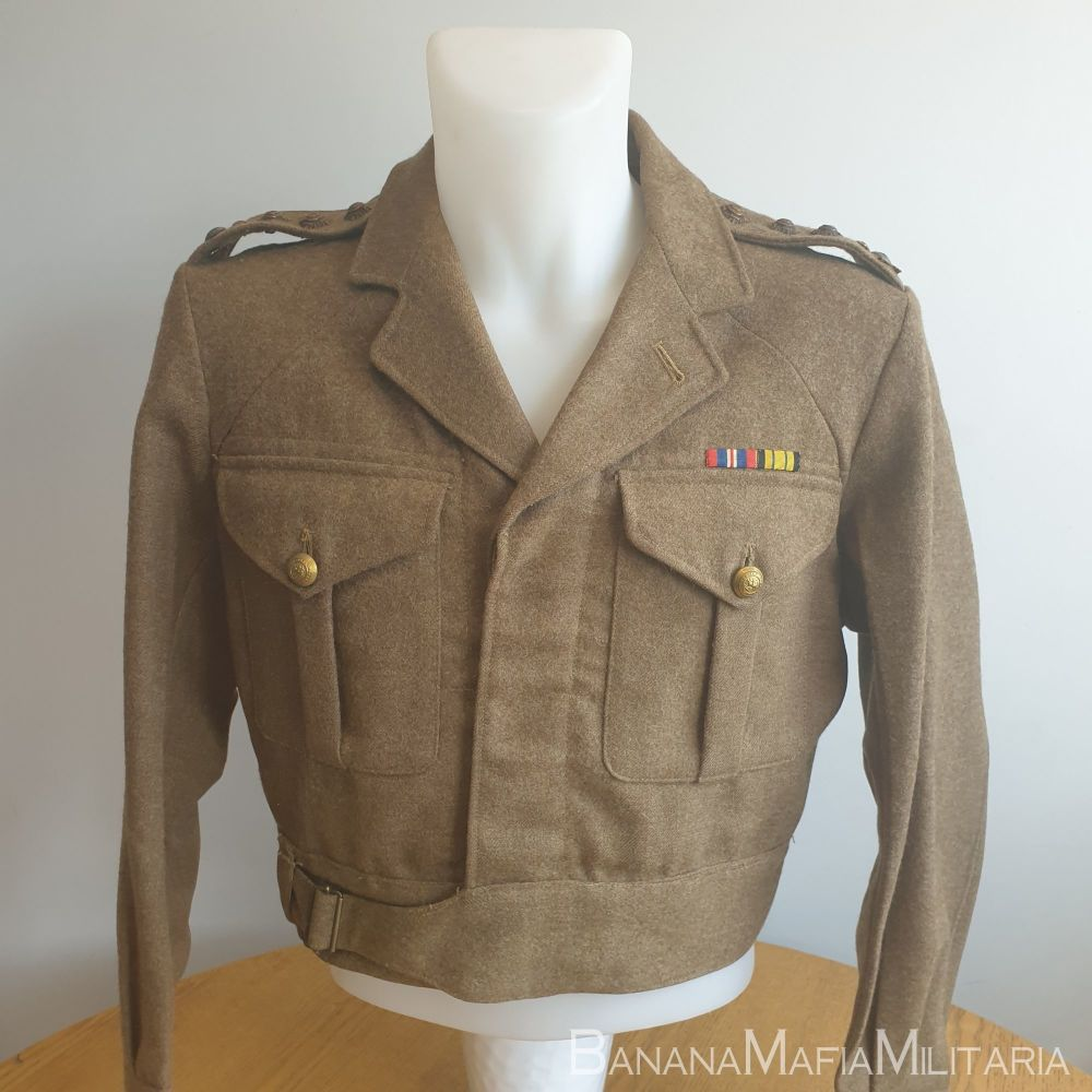 British Army Officers 1949 Pattern Badged BD blouse - WW2 Captain Ian J.R.