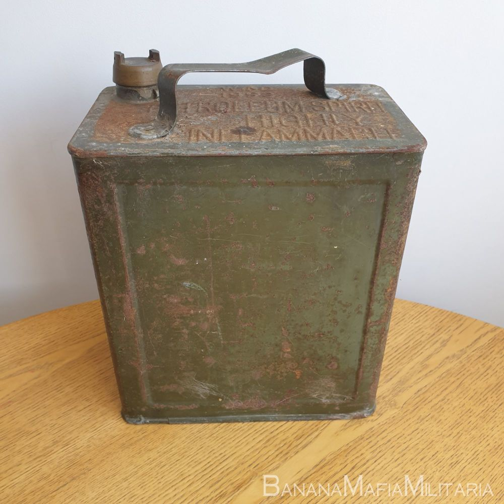 British Army Fuel can - Petrol 1953 dated