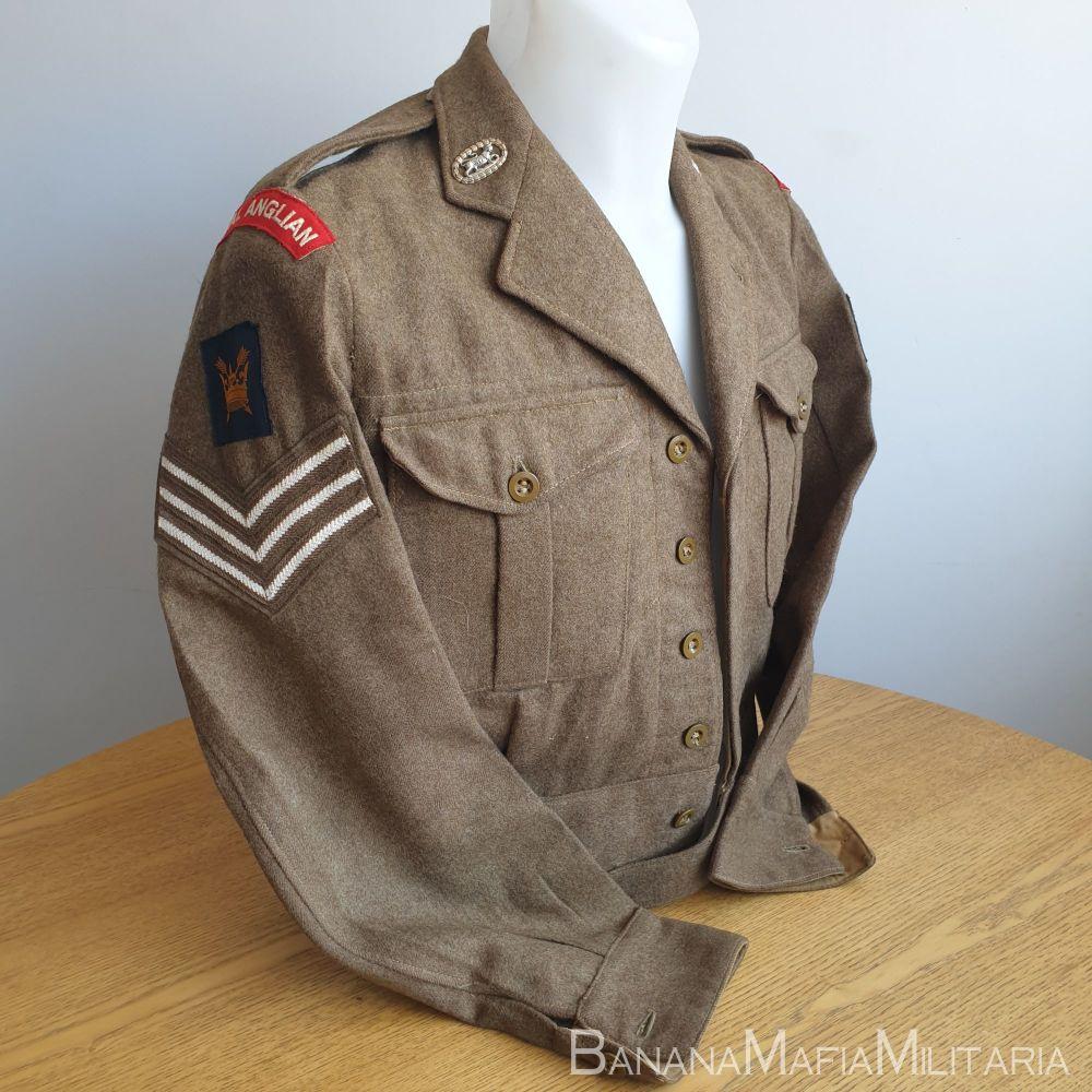 British Army 1949 Pattern Badged BD blouse - 4th Batt ROYAL ANGLIAN REGIMENT 54th DIV