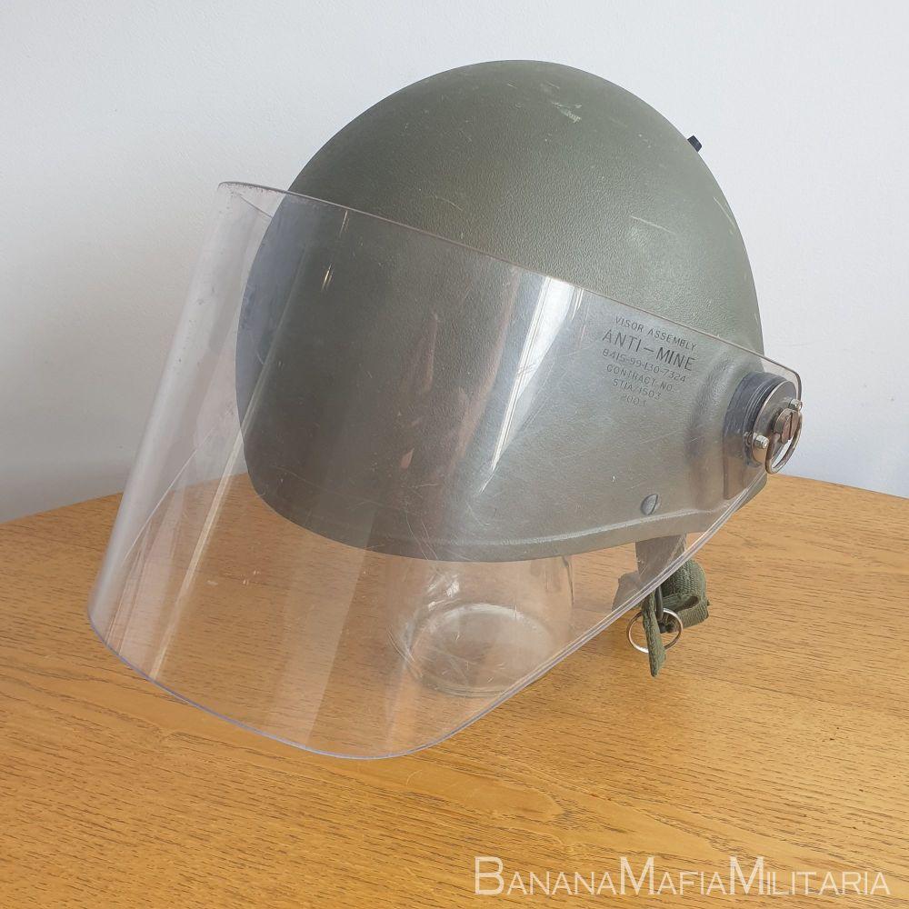 British army MKVI Helmet, with Anti-Mine Visor
