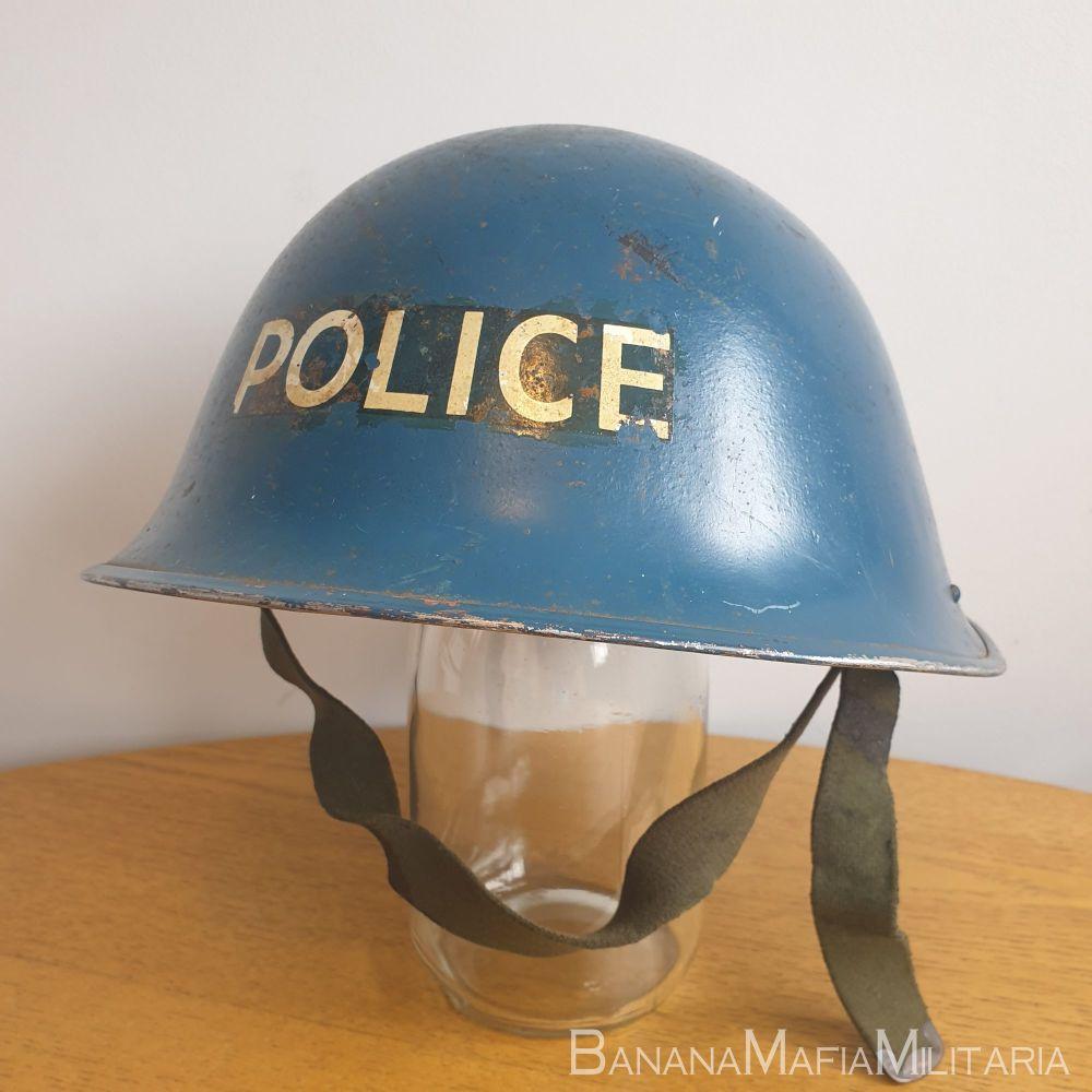 "British MKIV ""turtle"" helmet - POLICE issue"