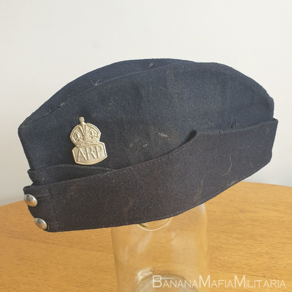 """British WW2 home front Field service """"FS"""" cap - Named to ARP messenger"""