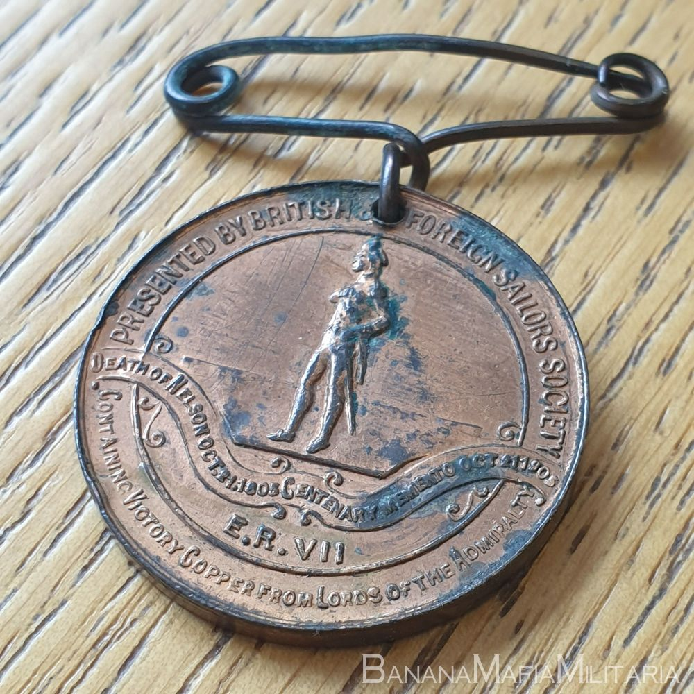 Battle of Trafalgar & Death of Nelson Centenary Medal 1905