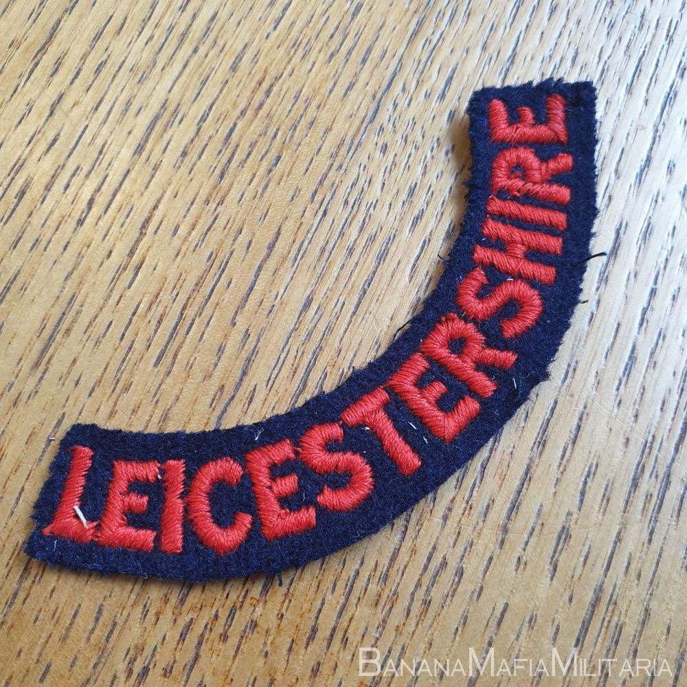 """1958 pattern  British Red Cross  Regional area titles """"Leicestershire"""""""