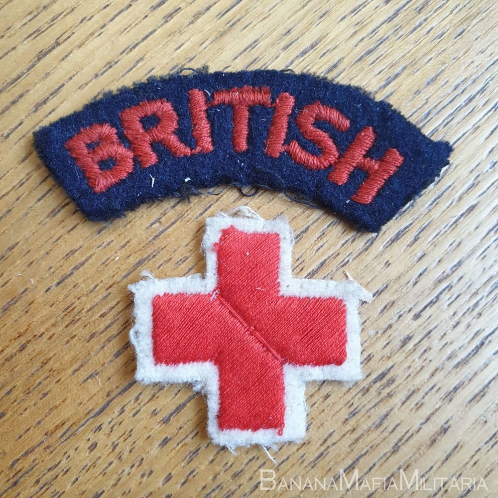 WW2 Era  British Red Cross / VAD cloth title and badge