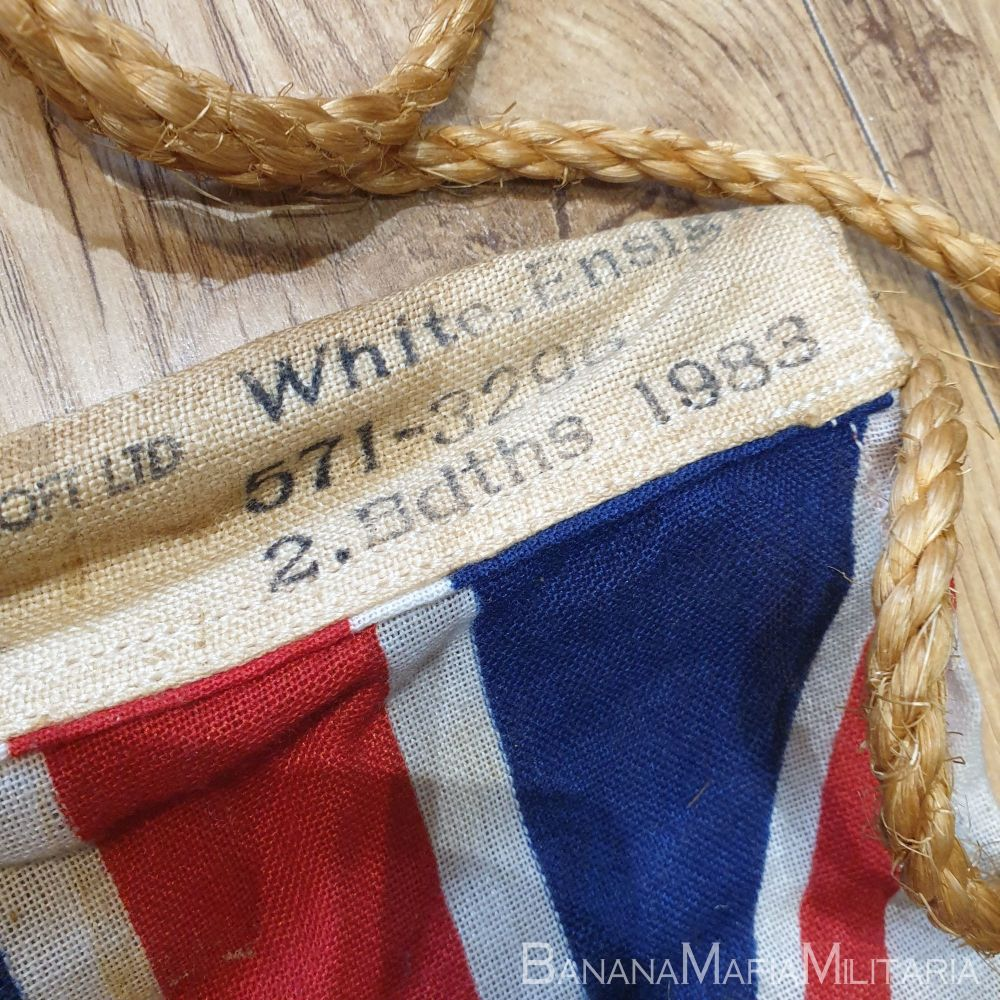 Royal navy White ensign flag. - 1983 dated 2 bdths 46 x 95 cm