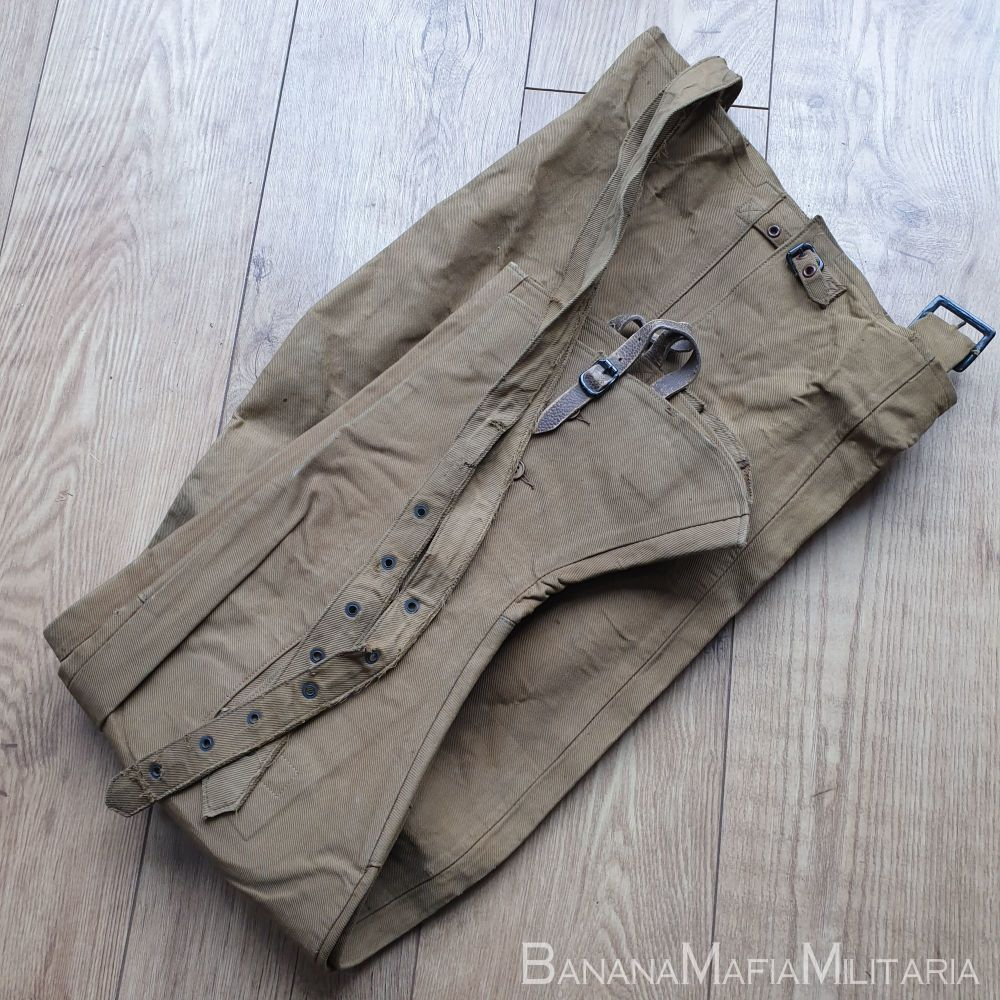 Original WW2  British Army Rubberised waterproof Trousers - 1941 dated size 5
