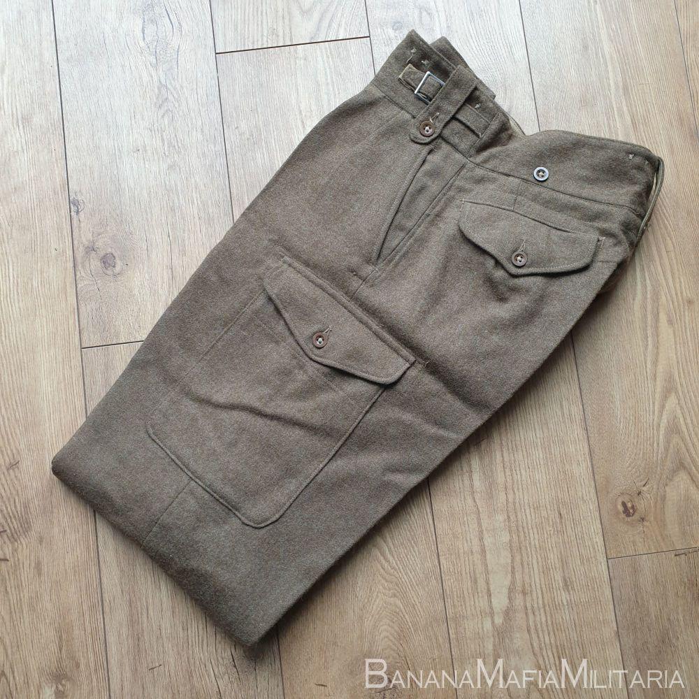 Original 1949 pattern  British Army Battle dress Trousers - 1951 size 12