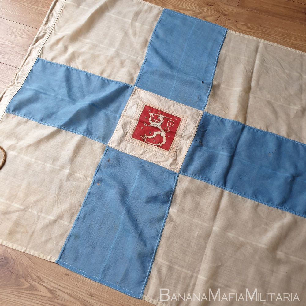 Original WW2 era panel constructed State flag  of Finland