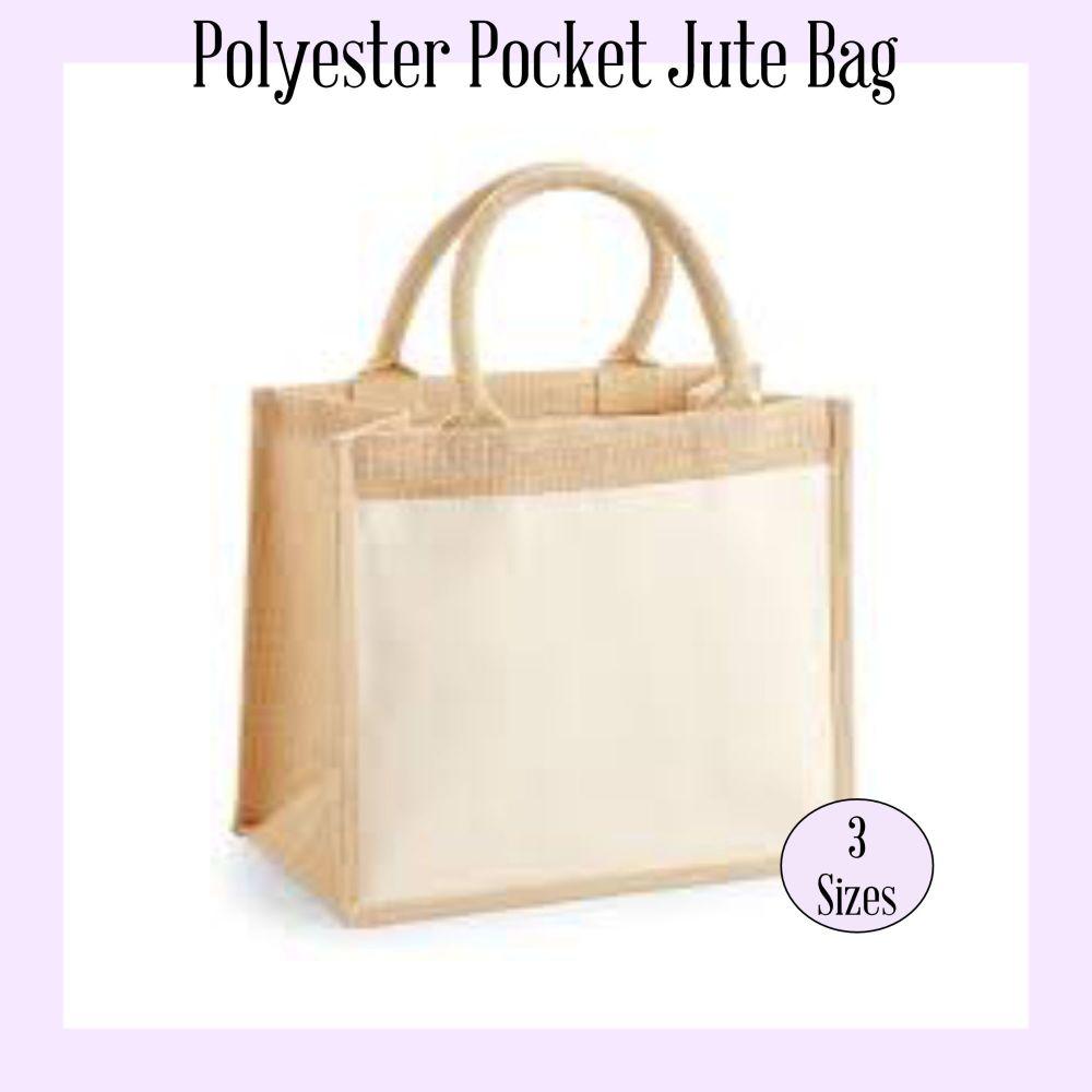 Polyester Pocket Jute bag