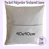 Textured Linen Pocket Cushion Cover 40cm x 40cm