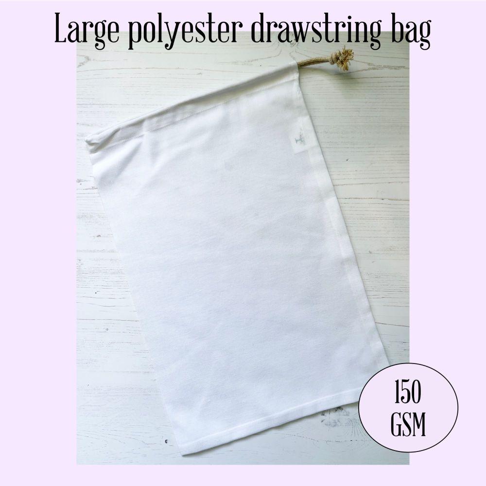 Large Polyester Drawstring Bag