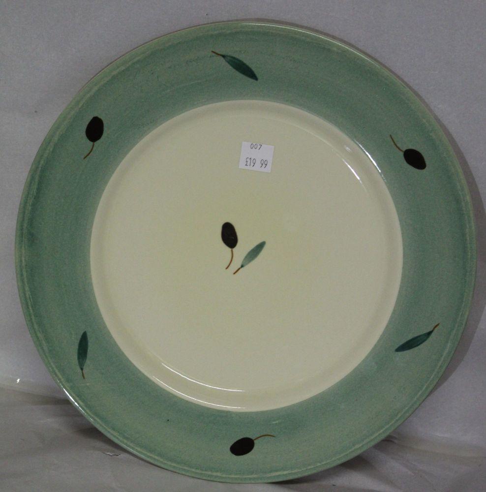 Fresco Dinner Plate Green