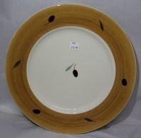 Dinner Plate - Orange Fresco design