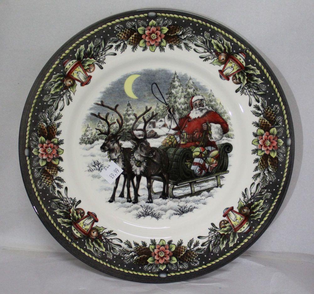 Themed Dinner Plate - Santa and Reindeer