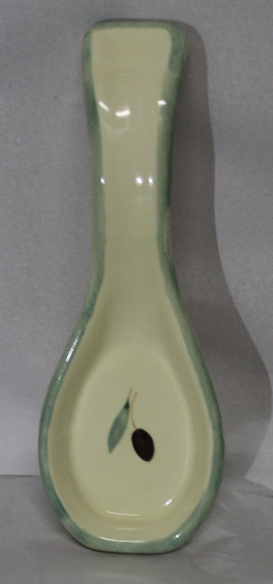 Fresco design Small Spoon Rest - Green