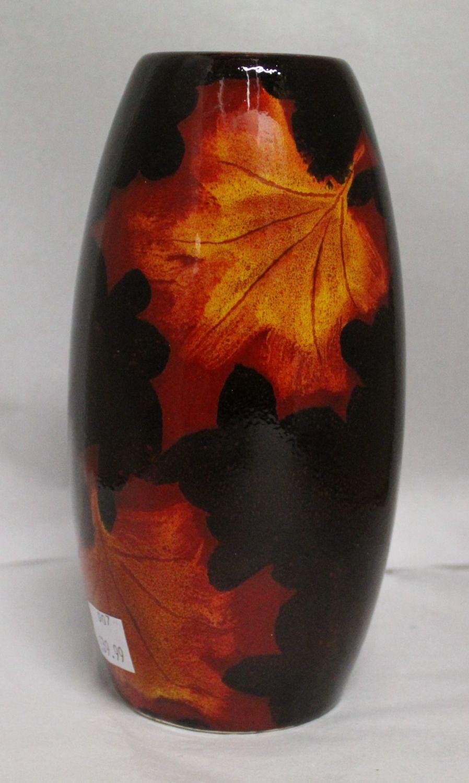 Studio Poole Forest Flame Torpedo vase