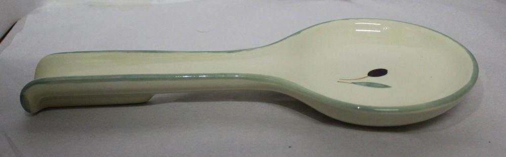Fresco design Large Spoon Rest - Green