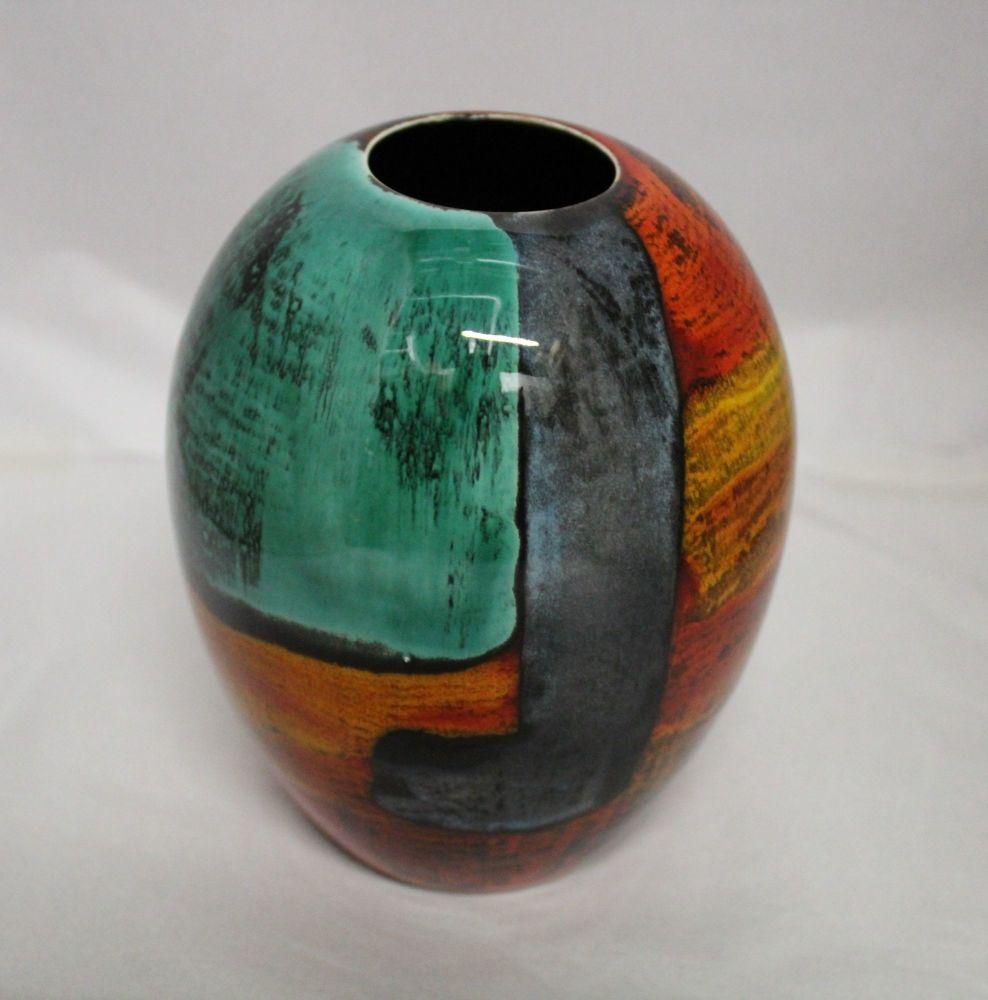 Ostrich egg Vase - Studio Poole Gemstones
