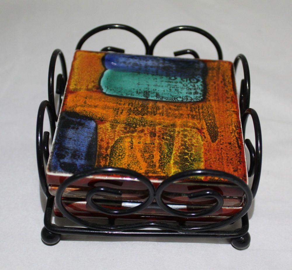 Coasters - Set of 4 - Studio Poole Gemstones design