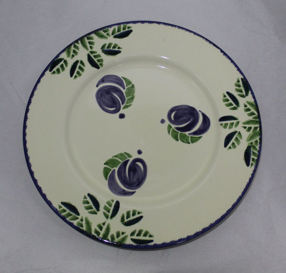 Dinner Plate - Dorset Fruits Plum design