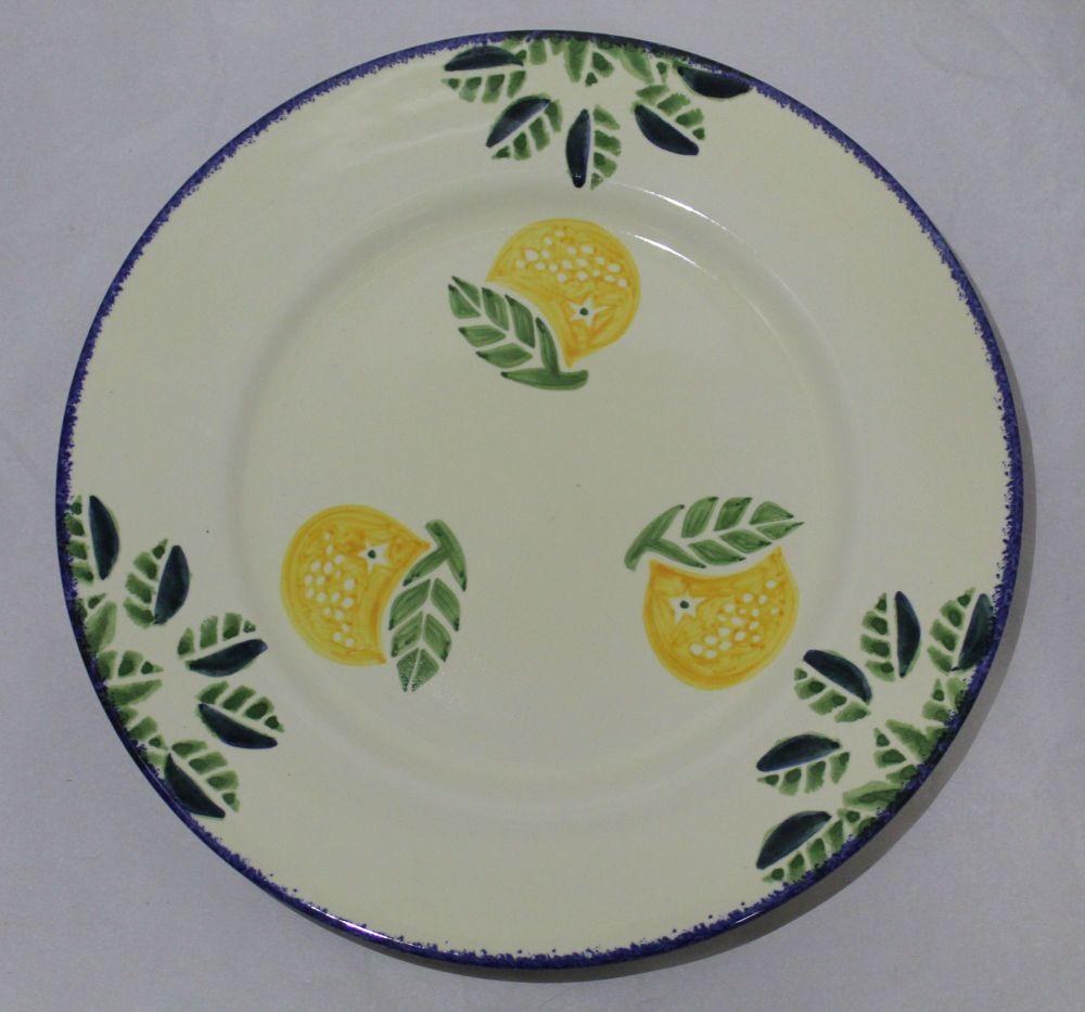 Dinner Plate - Dorset Fruits Orange design