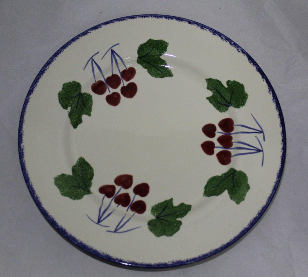 Dinner Plate - Dorset Fruits Cherry design