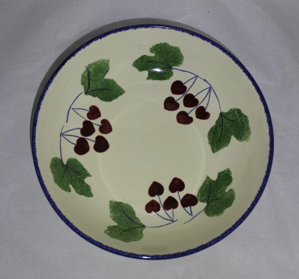 Pasta Bowl - Studio Poole Dorset Fruits Cherry design