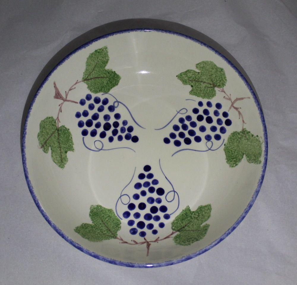 Pasta Bowl - Studio Poole Dorset Fruits Grapes design