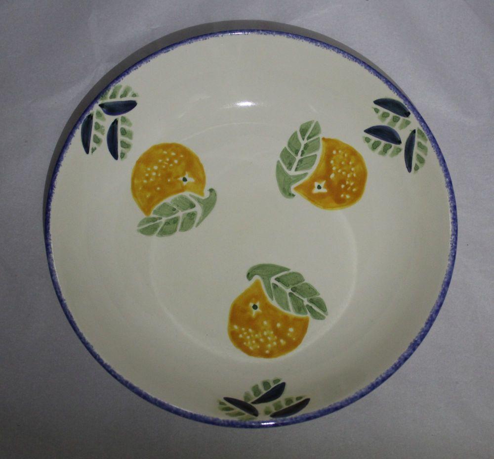 Pasta Bowl - Studio Poole Dorset Fruits Orange design