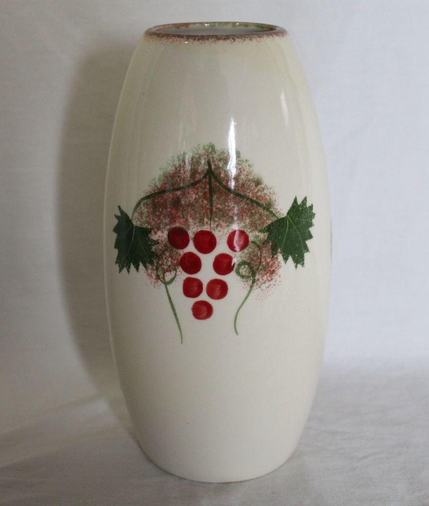 Red Berry design Torpedo vase - Studio Poole