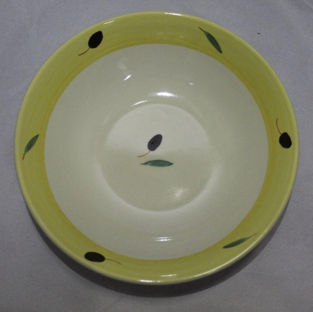 Breakfast Bowl - Yellow Fresco design