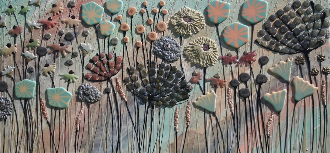 Pale Mint Meadow - 120cm x 57cm