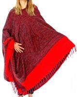 Long Hooded Cashmelon Poncho